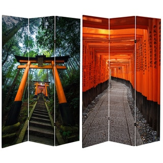 Double Sided Japanese Torii Gate 6-foot Tall Canvas Room Divider