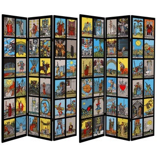Double Sided Tarot 6-foot Tall Canvas Room Divider