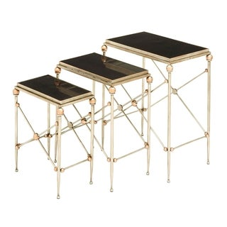 Metal Marble Finely Crafted Accent Tables (Set of 3)