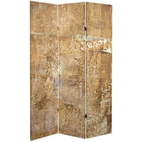 Double Sided Sandy Meadow 6-foot Tall Canvas Room Divider