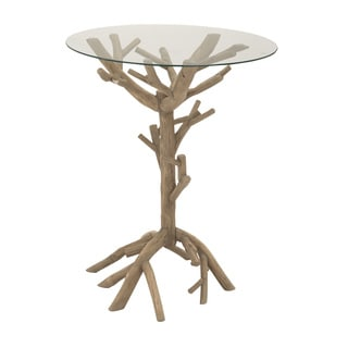 Wood/ Glass Accent Table