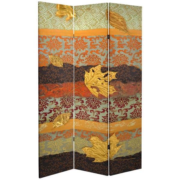 7 ft tall room dividers double sided october gold 7foot tall canvas room divider free