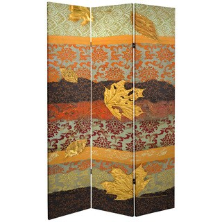 Double Sided October Gold 7-foot Tall Canvas Room Divider