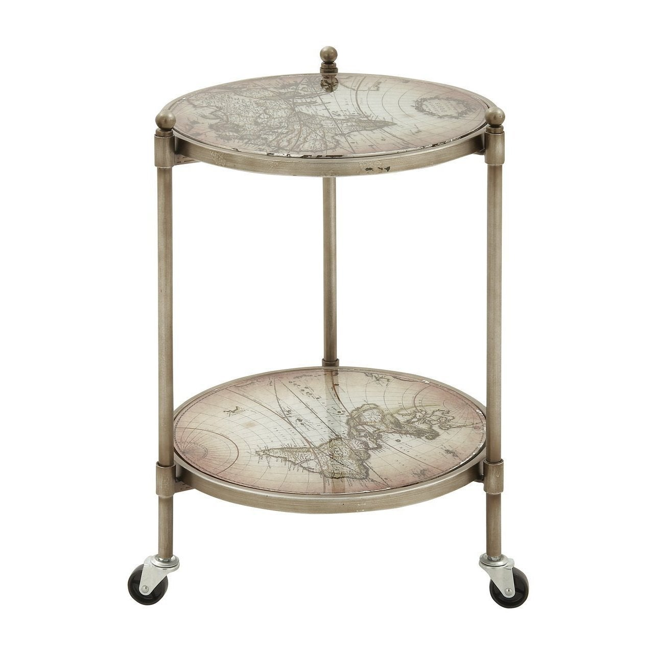 Studio 350 Glass/Metal Round Vintage Globe Accent Table (...