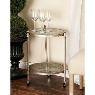 Glass/Metal Round Vintage Globe Accent Table