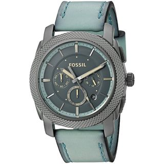 Fossil Men's FS5189 'Machine' Chronograph Green Leather Watch