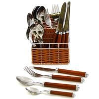 Luxury Imported Elegant Flatware Set of Rainbow Elite Collection from Nature Home Decor