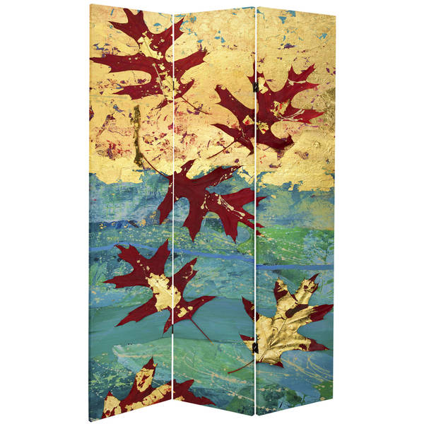 7 ft tall room dividers double sided autumn leaves 7foot tall canvas room divider shop on