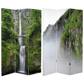 Handmade 6' Canvas Mountaintop Waterfall Room Divider