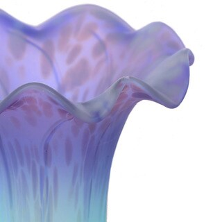 Handpainted Purple and Light Blue Glass Lily Replacement Shade