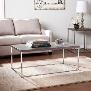 Harper Blvd Gorman Chrome Distressed Grey Coffee Table
