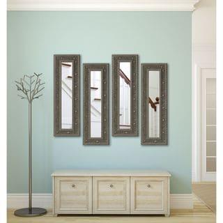 Rayne Opulent Silver Panel Mirrors