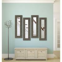 American Made Opulent Silver Panel Mirrors