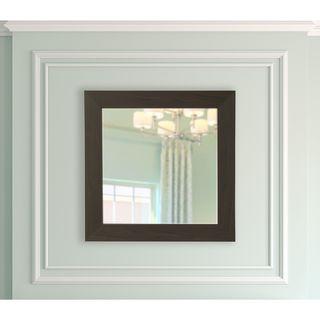 American Made Rayne Black Walnut Square Vanity Wall Mirror - Dark Brown