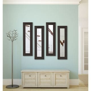 American Made Rayne Black Walnut Panel Mirrors