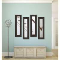 American Made Black Walnut Panel Mirrors - Black/Brown