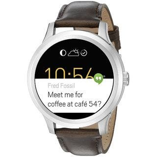 Fossil Men's FTW20011 'Q Founder' Customizable Touchscreen SmartWatch Android Wear Notifications Brown Leather Watch|https://ak1.ostkcdn.com/images/products/11935866/P18824393.jpg?impolicy=medium