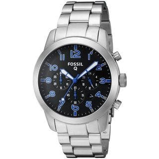 Fossil Men's FTW10041 'Q54 Pilot' SmartWatch LED Notifications and Tracking Chronograph Stainless Steel Watch|https://ak1.ostkcdn.com/images/products/11935893/P18824388.jpg?impolicy=medium