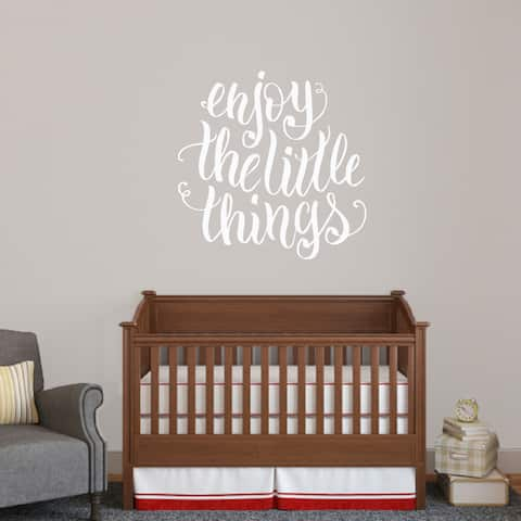 Enjoy The Little Things Vinyl Wall Decal