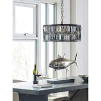 Aurelle Home Smoked Crystal Chandelier Lamp