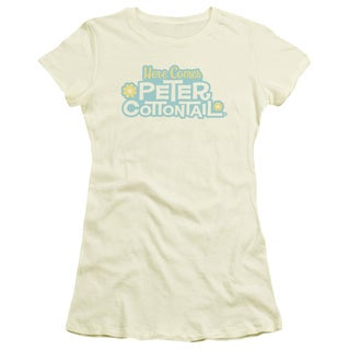 Here Comes Peter Cottontail/Logo Junior Sheer in Cream