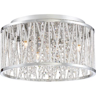 Quoizel Crystal Cove Platinum Collection Silver Iron Indoor Light