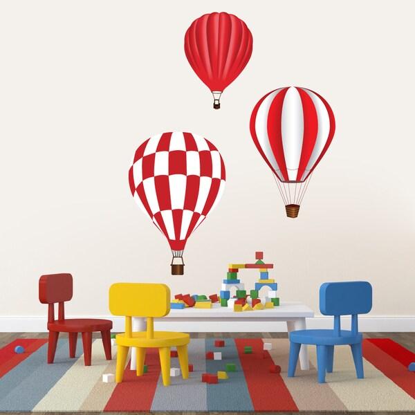 Shop Hot Air Balloons Printed Vinyl Wall Decals Set On