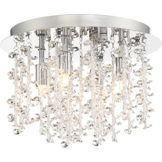 Quoizel Platinum Collection Luminous Crystal Flush-mount Pendant