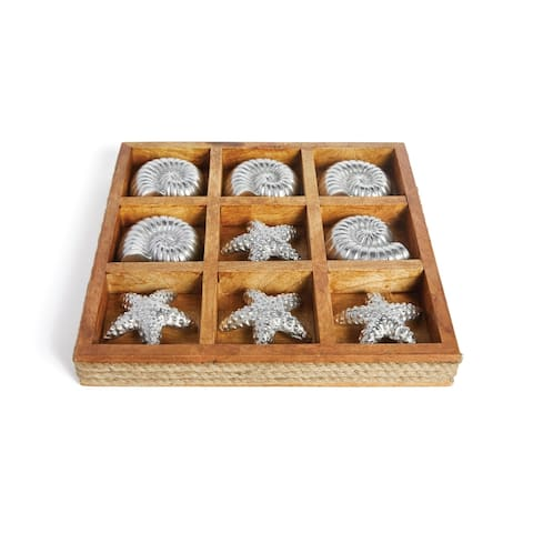 Natural and Plated Nickel Shelled Tic Tac Toe