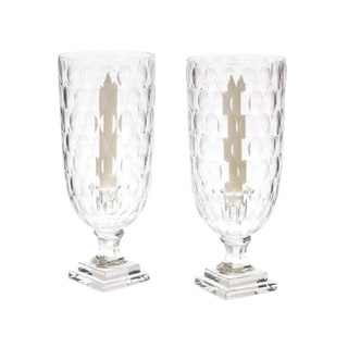 Link to Clear Hand-Blown Hurricanes (Set of 2) Similar Items in Decorative Accessories