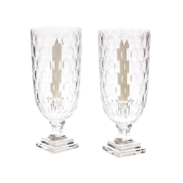 Clear Hand-Blown Hurricanes (Set of 2). Opens flyout.