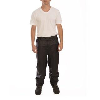 The Waist Tingley Black Polyurethane Waterproof Adjustable Sport Rain Pants