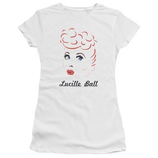 Lucille Ball/Drawing Junior Sheer in White