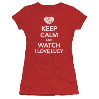 Lucy/Keep Calm and Watch Junior Sheer in Red