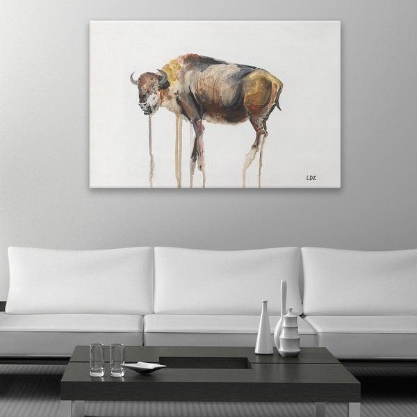 Laura D Zajac 'Drip Buffalo' Canvas Wall Art