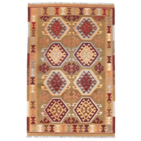 Handmade Mimana Kilim Wool Rug (Afghanistan) - 3'3 x 5'1
