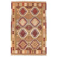 Handmade Herat Oriental Afghan Mimana Kilim Wool Rug - 3'3 x 5'1 (Afghanistan)