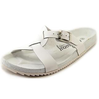 Coolway Women's Sierra White Leather Sandals