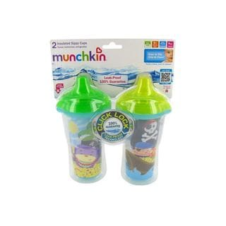 Munchkin Click Lock Pirates 9-ounce Insulated Sippy Cups (Pack of 2)