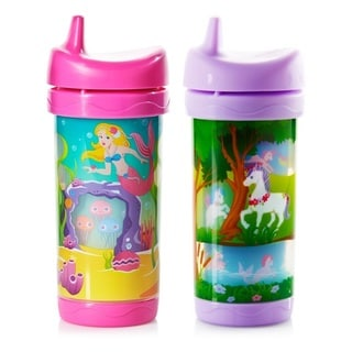 Evenflo Sip and Seek Plastic 10-ounce Insulated Cups (Set of 2)