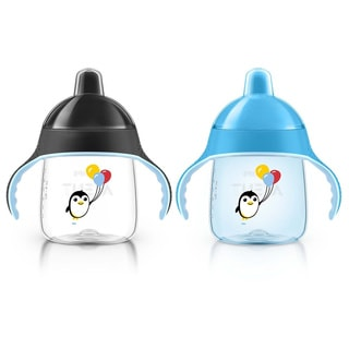 Philips Avent My Penguin Blue/Black Plastic 9-ounce Sippy Cup (Pack of 2)