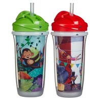 Playtex Circus Green Jungle/Red 9-ounce Insulator Straw Cup (Pack of 2)