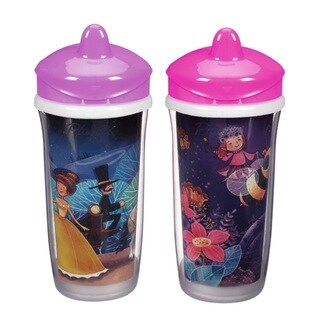 Playtex Purple Princess/Pink Fairy 9-ounce Insulator Cup (Pack of 2)