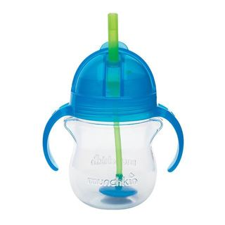Munchkin Click Lock Blue 7-ounce Weighted Flexi-Straw Cup