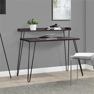 Palm Canyon Zachary Espresso/ Gunmetal Grey Desk with Riser