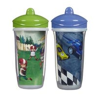 Playtex Green Football and Blue Cars 9-ounce Insulator Cup (Pack of 2)