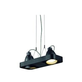 SLV Lighting Aixlight R2 Duo Black Aluminum 2-light Pendant