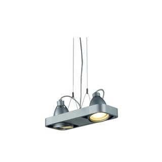 SLV Lighting Aixlight R2 Duo 2-light Silver Pendant