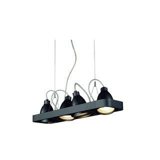 SLV Lighting Aixlight R2 Long Black Aluminum 4-Light Halogen Pendant