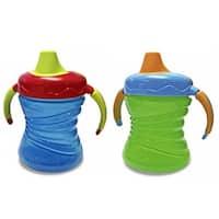 Nuk Gerber Graduates Blue/Green Plastic 7-ounce Fun Grips Trainer Cups (Set of 2)